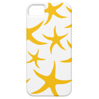 Summery Yellowy-Orange Starfish Pattern. iPhone 5 Cover
