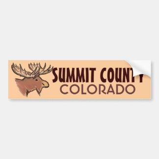 Summit County Colorado brown moose bumpersticker Car Bumper Sticker