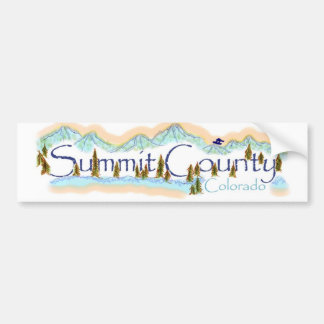 Summit County mountain scene bumpersticker Bumper Sticker