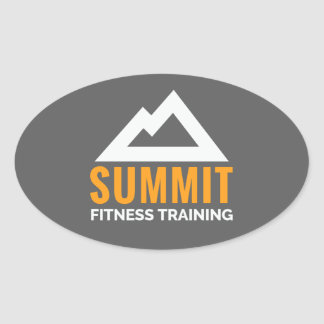 Summit Fitness Training Oval Sticker