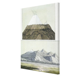 Summit of Cotopaxi (top), and the eruption of Coto Canvas Print