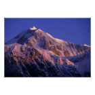 Summit of Denali Peak Mt. McKinley) at Poster