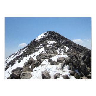 Summit of Mount Yale, Colorado 13 Cm X 18 Cm Invitation Card