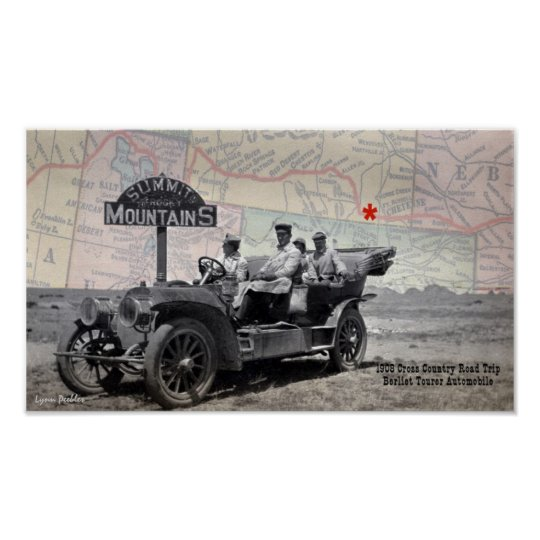 Summit Rocky Moutains 1908 Road Trip Poster