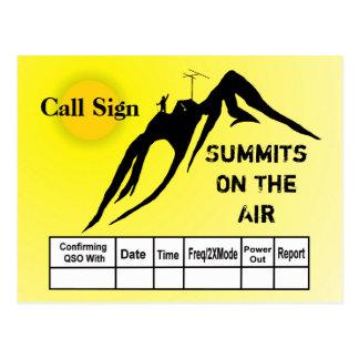 Summits On The Air Silhouette QSL Card Postcard