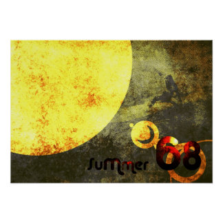 SUMMMER 68 YELLOW POSTER