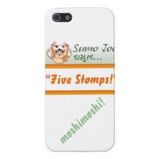 "Sumo Joe Says ""Five Stomps"" iPhone 5 Case"