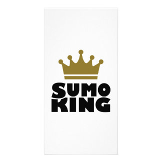Sumo king champion personalized photo card