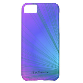 Sumo Purple and Powder Blue Curve iPhone 5 Case