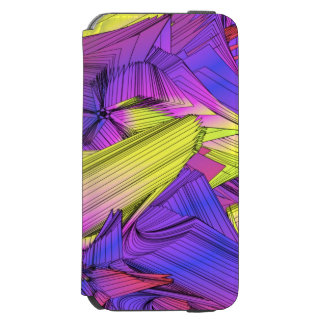 Sumo Purple and Yellow Stars Incipio Watson™ iPhone 6 Wallet Case
