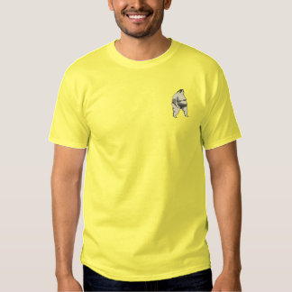 Sumo Wrestler Embroidered T-Shirt