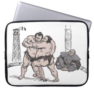 Sumo Wrestlers Laptop Computer Sleeve