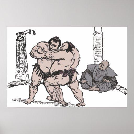 Sumo Wrestlers Posters