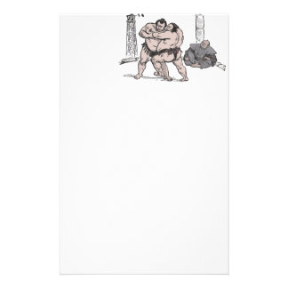 Sumo Wrestlers Stationery