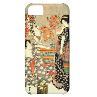Sumo Wrestling - Full Moon Diptych 1818 Right Cover For iPhone 5C