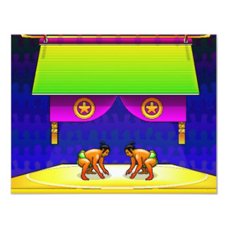 SUMO WRESTLING PARTY BIRTHDAY INVITE INVITATION