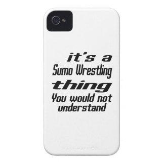 Sumo Wrestling Thing Designs iPhone 4 Case-Mate Cases