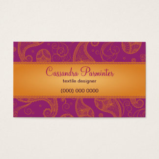 Sumptuous Paisley Business Card
