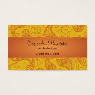 Sumptuous Paisley Business Card