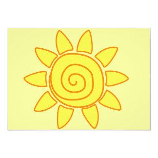 Sun 13 Cm X 18 Cm Invitation Card