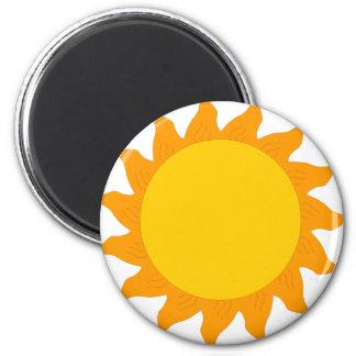 sun[1] 6 cm round magnet