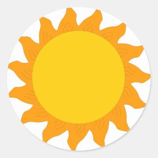 sun[1] round sticker