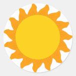 sun[1] round stickers