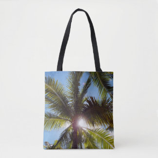 Sun across Palms Tote Bag