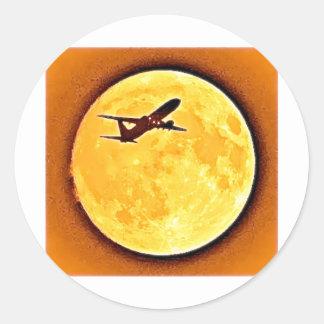 SUN AIRLINER ROUND STICKER