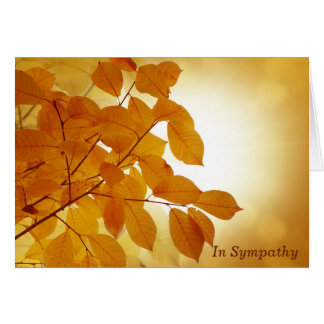 Sun and Autumn Leaves Sympathy Card