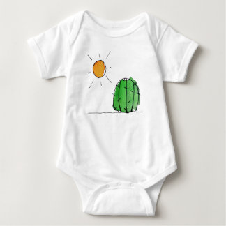 Sun and Cactus Watercolor Baby Jersey Bodysuit