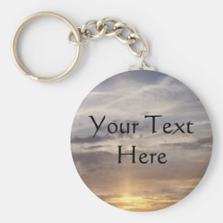 Sun and Clouds Key Ring
