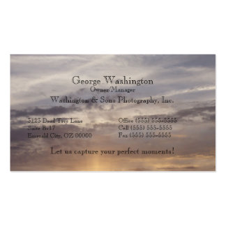 Sun and Clouds Pack Of Standard Business Cards