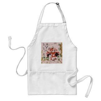 Sun and dance 妓 with bird 2 standard apron