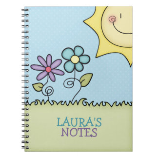 Sun and Flowers, Add your name Notebooks