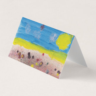 Sun and Flowers Blank Notecard Card