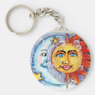 Sun and Moon Design Key Ring