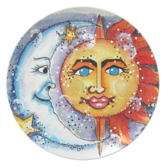 Sun and Moon Design Plate