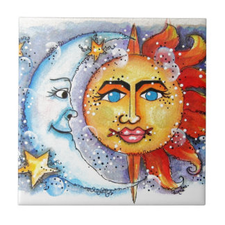 Sun and Moon Design Tile