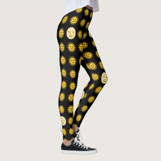 Sun and Moon Emojis Leggings