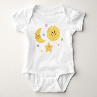 Sun and Moon Illustration Baby Bodysuit