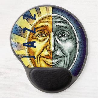 Sun and moon jazz mousepad gel mouse mat
