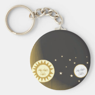 Sun and Moon Key Ring