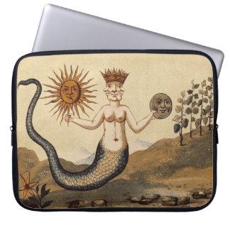 Sun and Moon Merman Laptop Sleeve