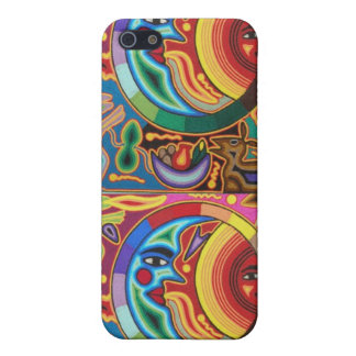 Sun and Moon Mexican String Art iPhone 4 Case