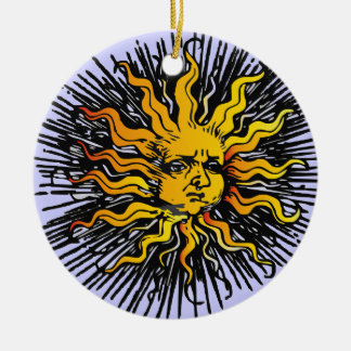 Sun and Moon Necklace Round Ceramic Decoration