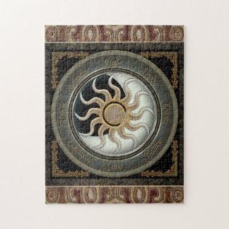 Sun and Moon Pagan Wheel Jigsaw Puzzle