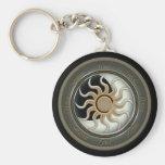 Sun and Moon Pagan Wheel Key Chain