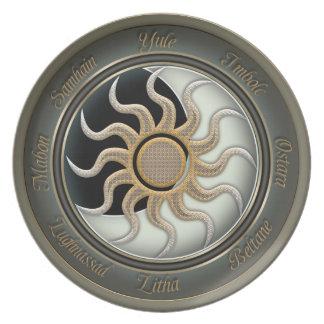Sun and Moon Pagan Wheel Plate
