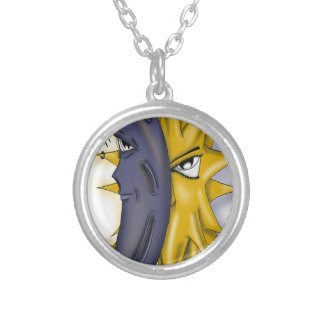 Sun and Moon Silver Plated Necklace